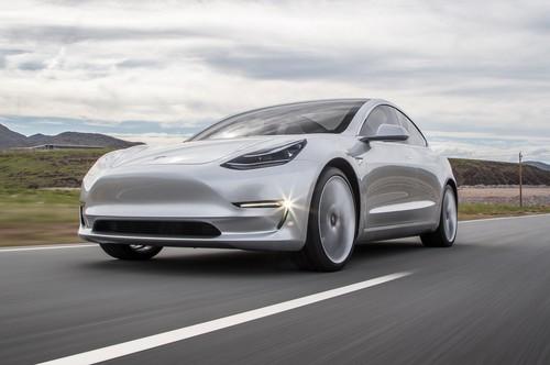 Tesla Model 3 60D AWD wallpaper titled front low three quarter 2018 Tesla Model 3 60D AWD electric sport luxury sedan