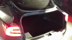 trunk opening (old design) 2018 Tesla Model 3 60D AWD electric sport luxury sedan