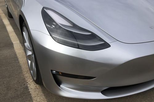 Tesla Model 3 60D AWD wallpaper entitled front headlight bumper 2018 Tesla Model 3 60D AWD electric sport luxury sedan