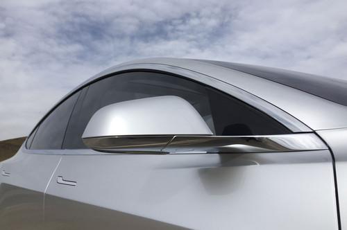Tesla Model 3 60D AWD wallpaper called side mirror 2018 Tesla Model 3 60D AWD electric sport luxury sedan