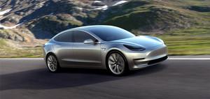 Tesla Model 3 electric sport sedan 60D AWD side