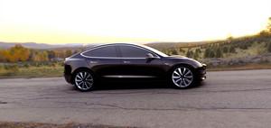Tesla Model 3 electric sport sedan 60D AWD black side