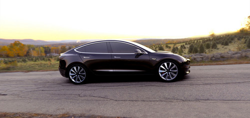 Tesla Model 3 60D AWD wallpaper entitled Tesla Model 3 electric sport sedan 60D AWD black side