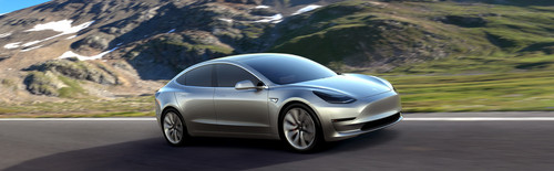 Tesla Model 3 60D AWD wallpaper titled Tesla Model 3 electric sport sedan 60D AWD silver side