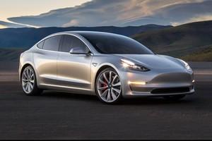 silver 2018 Tesla Model 3 70D AWD electric sport sedan