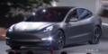matte black unveiling 2018 Tesla Model 3 70D AWD electric sport sedan