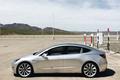 silver side human height 2018 Tesla Model 3 70D AWD electric sport sedan