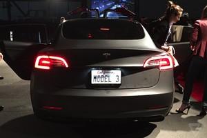 matte black gray model 3 joyrides 2018 Tesla Model 3 70D AWD electric sport sedan