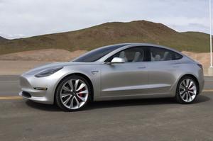 side low 2018 Tesla Model 3 70D AWD electric sport sedan