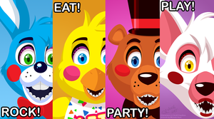prize corner poster from five nights at freddy s 2 由 mochiroo d95l73b