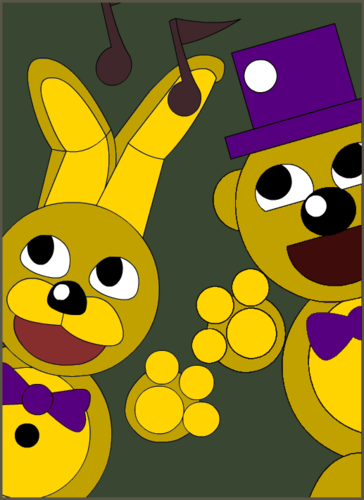 Five Nights at Freddy's (Пять ночей с Фредди) Обои titled springbonnie and fredbear by kiwigamer450 d9gsij9