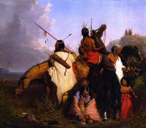 Indian group (1845) sejak Charles Deas (Filadelfia 1818-1867)