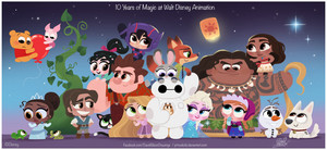 10 Years of Magic at Walt Disney phim hoạt hình Tribute