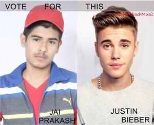 2016 vote for this Jai Prakash With Justin Bieber 2016