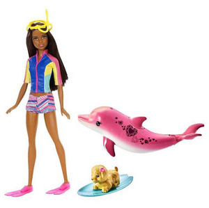 2017 barbie ikan lumba-lumba, lumba-lumba Magic Doll