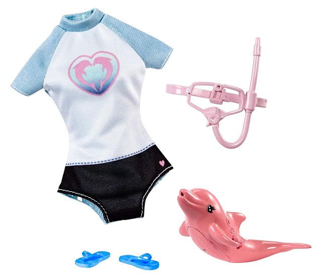2017 Barbie Dolphin Magic Fashion Pack Snorkel