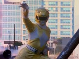 Aisha Morphed As The 초 Yellow Mighty Morphin Ranger