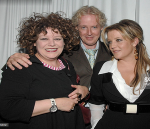 Angela McCluskey, Paul Cantelon and Lisa Marie Presley