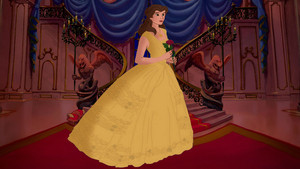 Animated Emma Watson as Belle