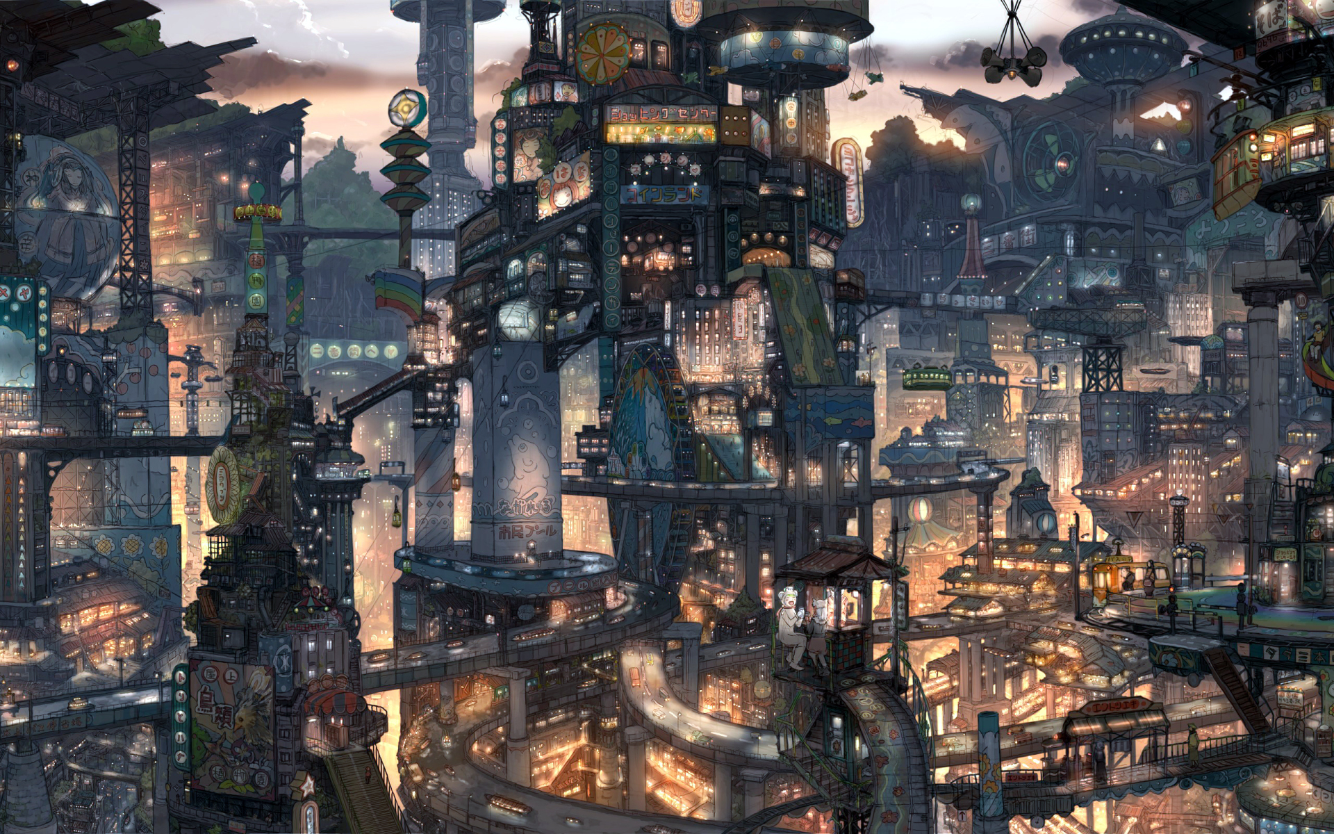 The Kingdisneymarios Images Anime City Scenery Hd Wallpaper And Background Photos