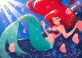 Ariel - the-little-mermaid fan art