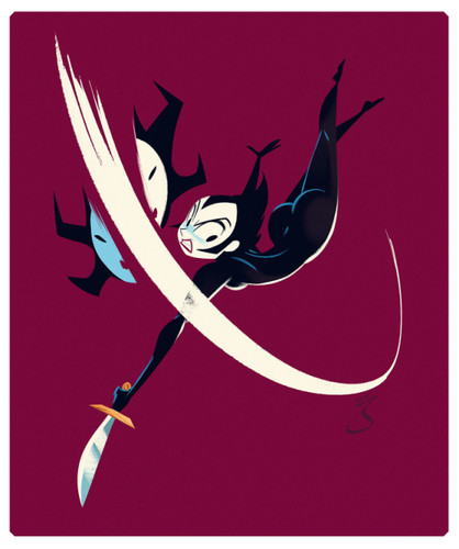 Samurai Jack Hintergrund entitled Ashi