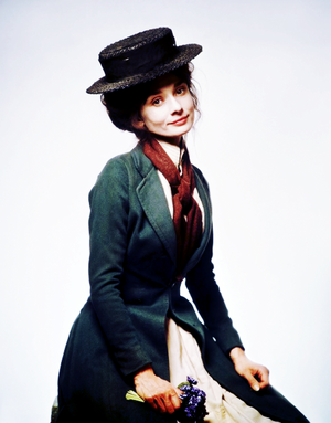 Audrey Hepburn as Eliza Doolittle