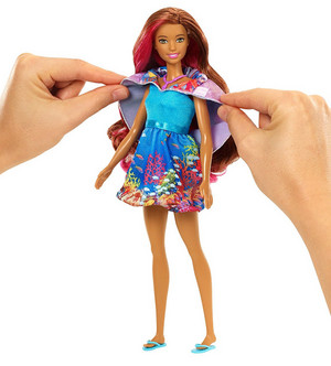 barbie ikan lumba-lumba, lumba-lumba Magic Mermaid Doll Outfit Transformation