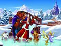 christmas - Beauty and The Beast,wallpaper wallpaper