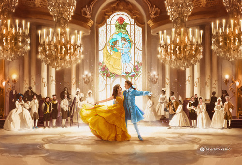 Beauty and the Beast (2017) achtergrond called Beauty and the Beast