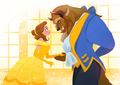 Belle and the Beast - disney-princess fan art
