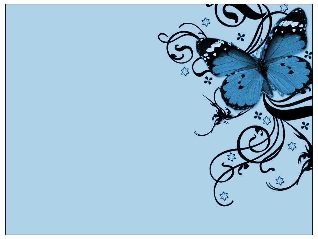 Blue Butterfly,Wallpaper