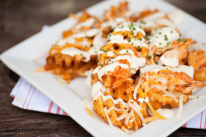 Buffalo Chicken Waffle French Fries