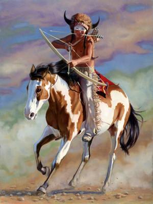 Buffalo Hunt door Jane Bradley