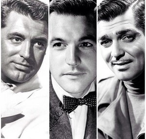 Cary Grant,Gene Kelly and Clark Gable