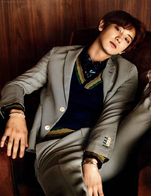 Chanyeol For April 2017 L'OFFICIEL HOMMES