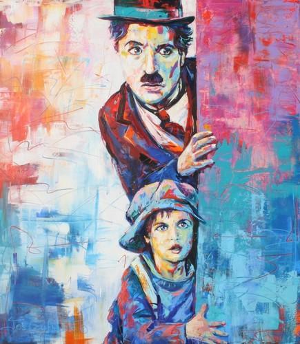 Charlie Chaplin karatasi la kupamba ukuta called Charlie kwa Voka