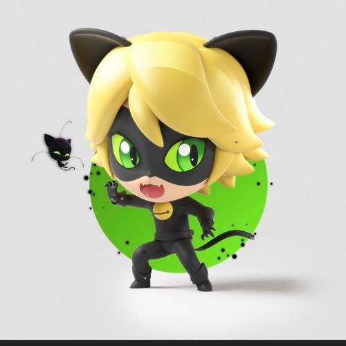 Miraculous Ladybug Hintergrund entitled Chibi Chat Noir