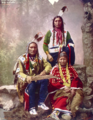 Chief Little Wound and family (Oglala Lakota) 1899 by Heyn Photo