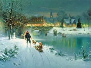 क्रिस्मस Scene,Vintage