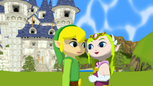 Classic Link and Zelda Together MMD