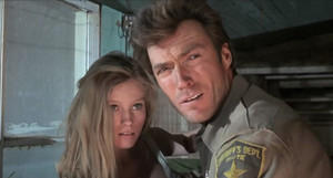 Clint Eastwood and Melodie Johnson in Coogan's Bluff 1968
