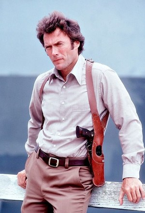 Clint Eastwood on the set of Magnum Force 1973