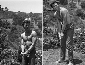 Clint Eastwood playing golf (early 60s)