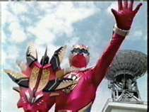 Conner Morphed As The Red Dino Thunder Ranger