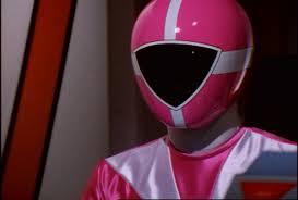 Dana Morphed As The 담홍색, 핑크 Lightspeed Ranger