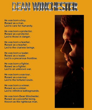 Dean Winchester poesia