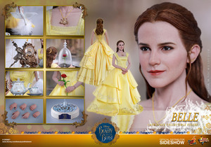 Disney Belle Sixth Scale Collectible Figure سے طرف کی Hot Toys