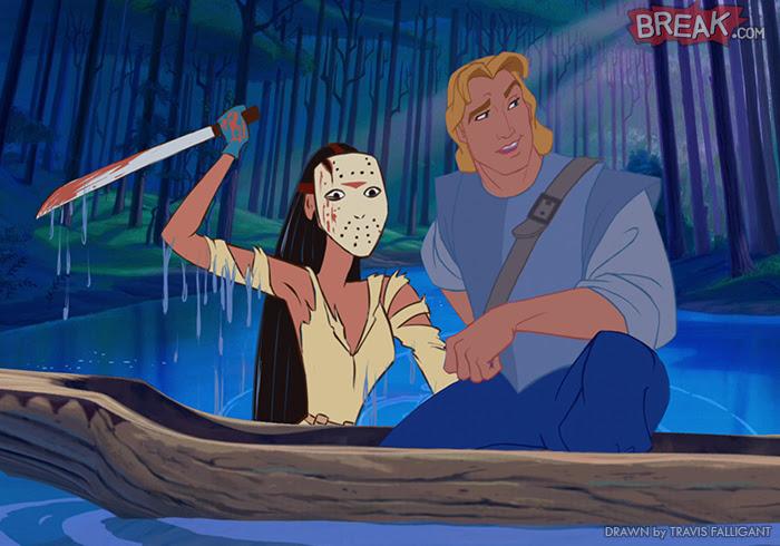 Disney Princesses as horror movie villains 11 10