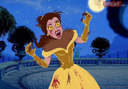 Living Dead Dolls karatasi la kupamba ukuta entitled Disney Princesses as horror movie villains 11 11